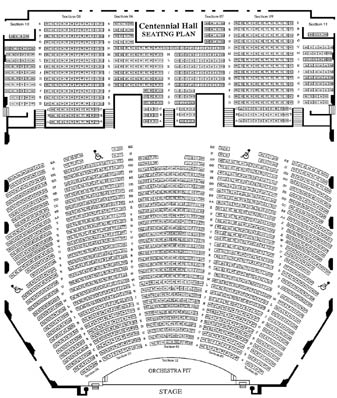 Centennial hall tucson seating chart brokeasshome com